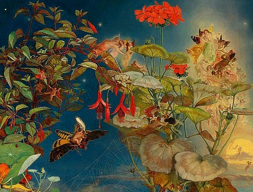 stilllifequickheart:  John George Naish Midsummer Night's Fairies 1856