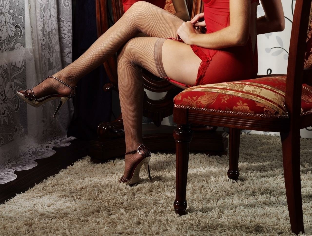 Leg strappy heels porn