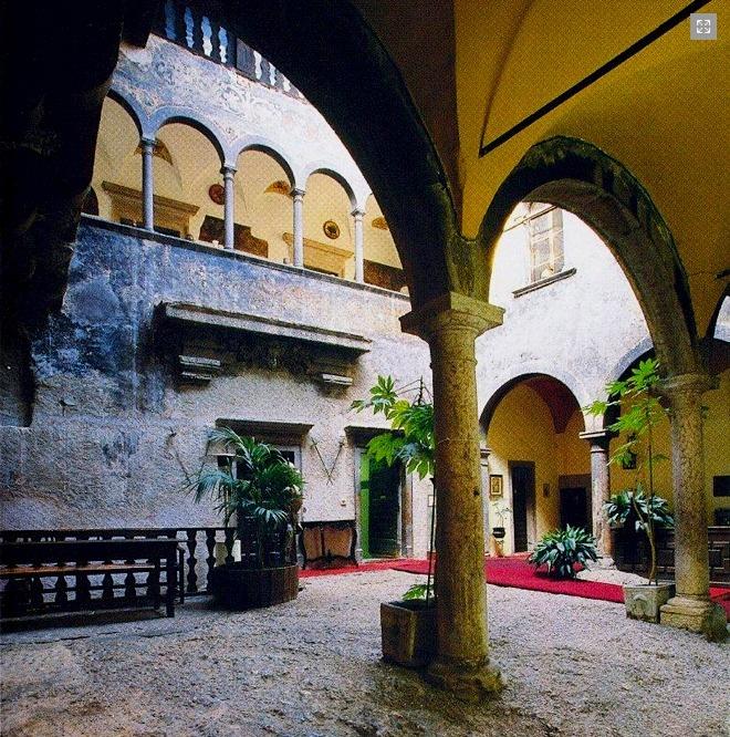 | ♕ | Castel Toblino courtyard - Trentino | by © ibuongustai