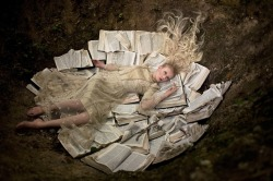 bookpatrol:  Once Upon a Time The bookish part of Kirsty Mitchell's 'Wonderland,' an amazing series of 75 works in memory of her mother