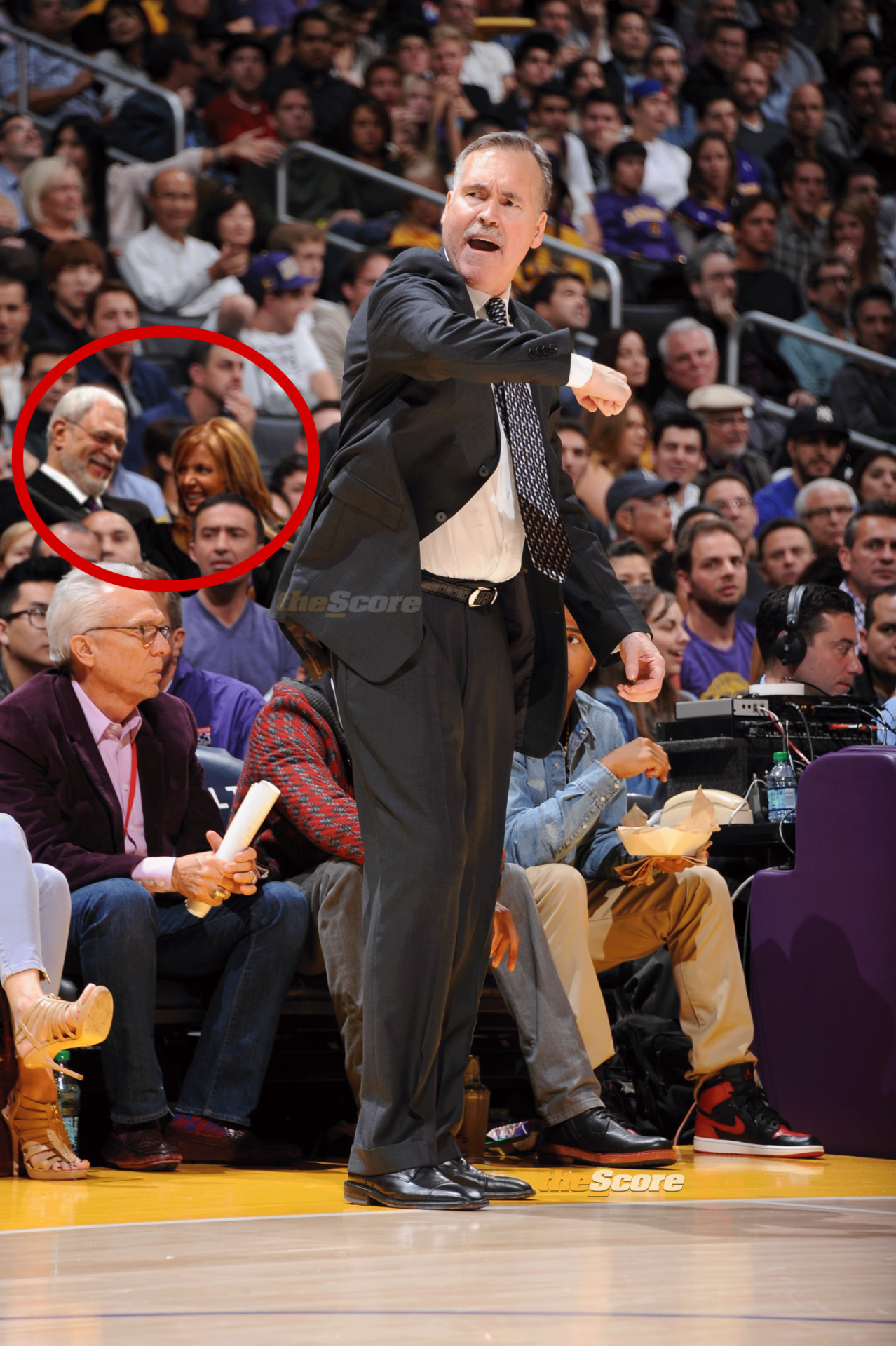 Pic: Watching the Lakers would make anyone laugh.