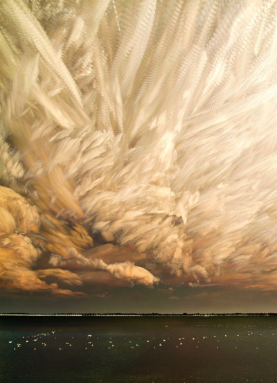 asaya:  Smeared Skies Made from Hundreds of Stacked Photographs by Matt Molloy