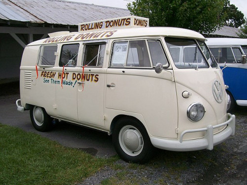 allyoucaneatpress:  Doughnut vehicle  The 1961 Rolling Donuts Bus  photo by coolbmx2c4me's photostream