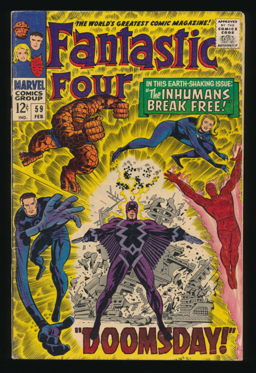 kirbycovers:  Fantastic Four #59(Feb. 1967)