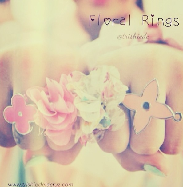 My DIY floral rings :) perfect for summer!!   Follow me on instagram!! @trishiedc  www.trishiedelacruz.com