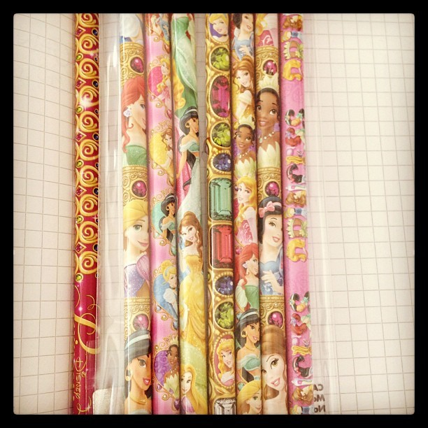 My pretty pretty #princess pencils are the best. #disney  #designerlife