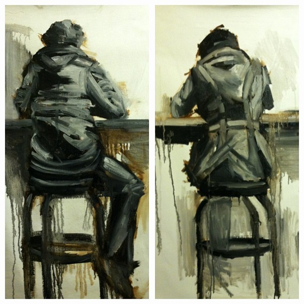 #art #done #progress #painting #oilpainting #cafe #figure #missydahl