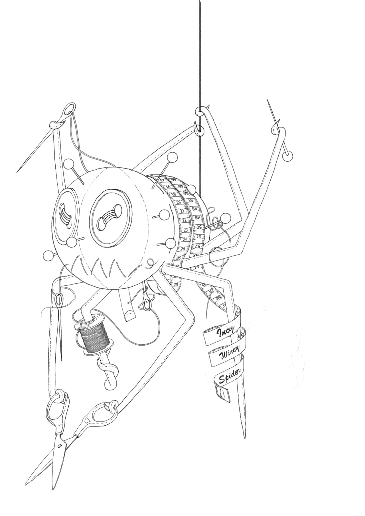 """Incy Wincy Spider"" Working Progress!  Do you have any thoughts.  Follow my work here - Facebook/Twitter/Tumblr/Port Folio"