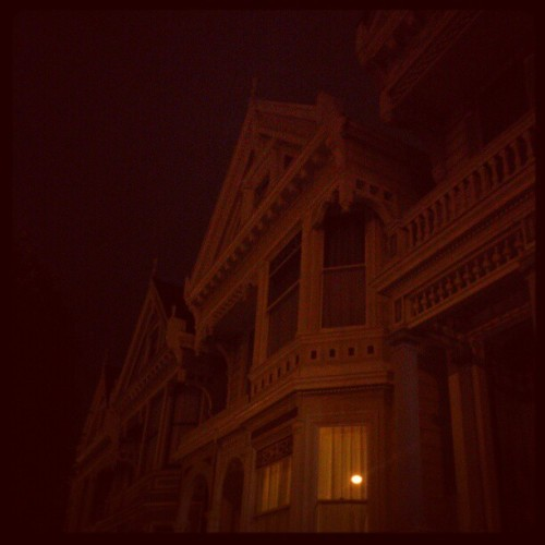 The painted ladies at night #sf #paintedladies