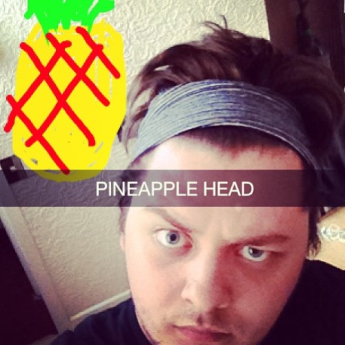 A little preview of the genius of my snapchats. #snapchat #thuggin #pineapple #wheresmysocks