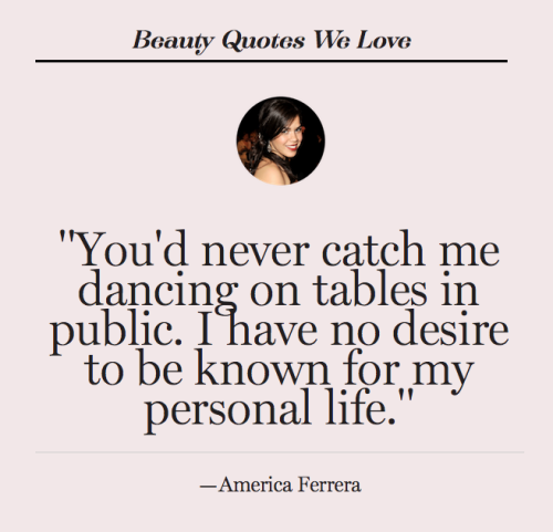 Quote of the day via our sister site, GlamLatina.com.