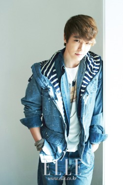 Super Junior's Donghae in Elle Girl March, 2012