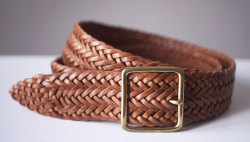 NEW COLLECTION ACCESSORY L.P.S  MILITARY BELT LEATHER BRAIDED & BRASS L.P.S  http://www.les-petites-series.com