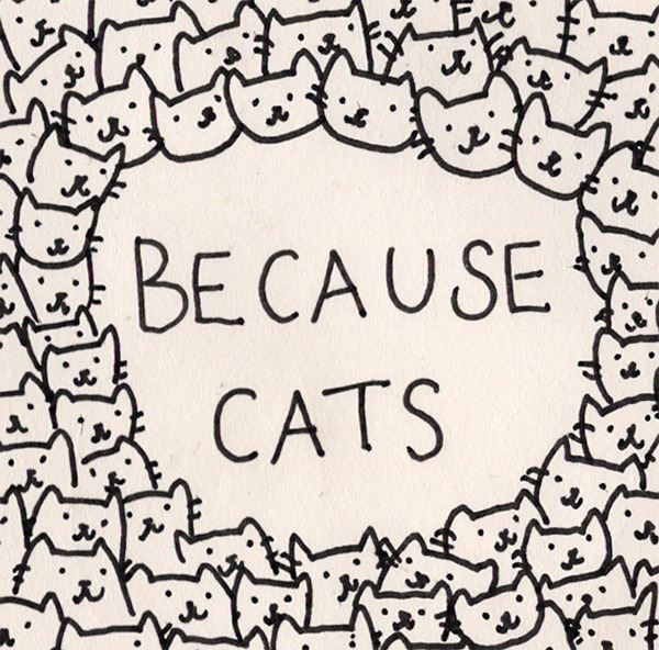 palewanderlust:  xicrx:  because cats..  Basically..