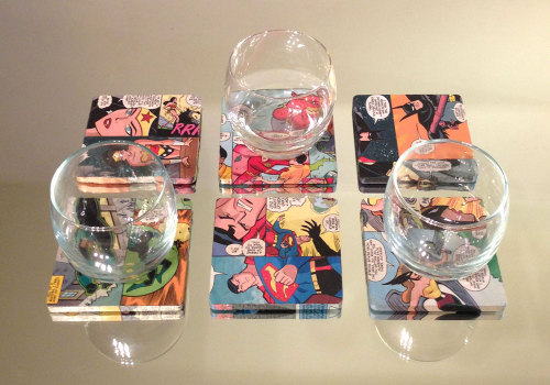 artsandcrash:  Justice League of America Drink Coasters Set