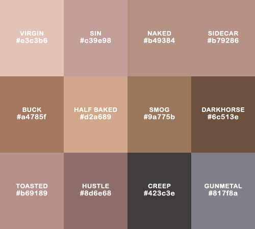 Brown Palette Tumblr