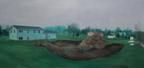Nate Burbeck | on tumblr Stearns County, Minn., Oil on Canvas, 24 x 50 inches, 2013