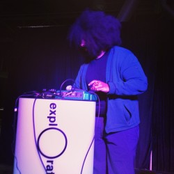 Good times! @reggiewatts rocking out at the #exploratorium gala