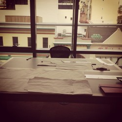 Building my Empire. #fashion#patternmaking#studio#empire#diamons#paper#empire#building#window#downtown#dope#followyourdreams  (at Maison Michel Ange)