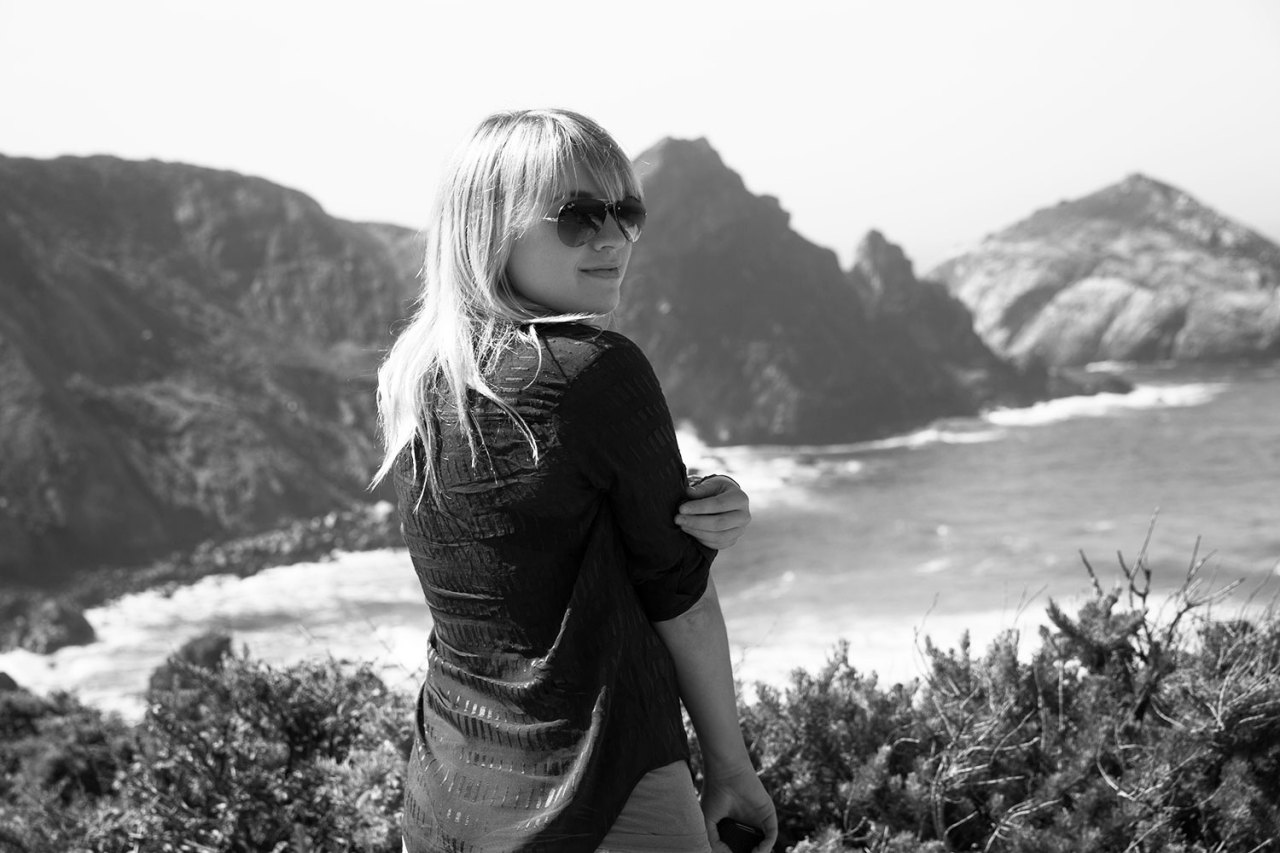 California coast. Alexz Johnson travels to San Francisco. March 23, 2013.