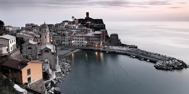 | ♕ |  Vernazza at dusk - Cinque Terre  | by © Matt Hofman