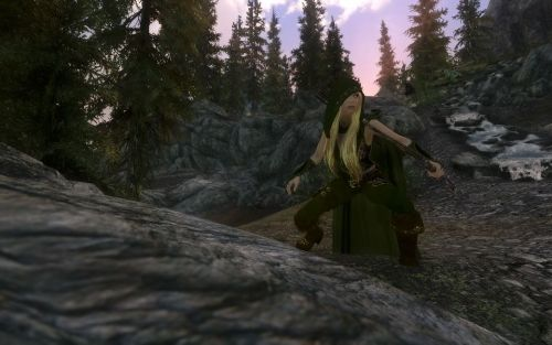 Wow! A fan used a mod to plop Robyn Hood in the world of Skyrim! Now THAT is awesome. Thank you, Lawrence Taylor!