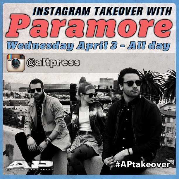 Paramore - FYI: tomorrow paramore is taking over our Instagram! So, keep your phone handy to follow