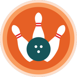 lifescouts:  Lifescouts: Bowling Badge If you have this badge, reblog it and share your story! Look through the notes to read other people's stories. Click here to buy this badge physically (ships worldwide). Lifescouts is a badge-collecting community of people who share real-world experiences online.  Bowled a little. I'm not great but I can throw things so that's cool. BADGES:23