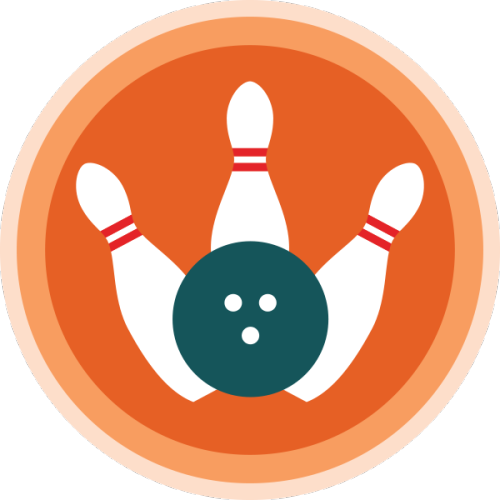 lifescouts:  Lifescouts: Bowling Badge If you have this badge, reblog it and share your story! Look through the notes to read other people's stories. Click here to buy this badge physically (ships worldwide). Lifescouts is a badge-collecting community of people who share real-world experiences online.  I've been bowling only twice in my life, and actually played on one of those occasions so that's a shame. But I remember enjoying it a lot, and hope to go with friends again some day.