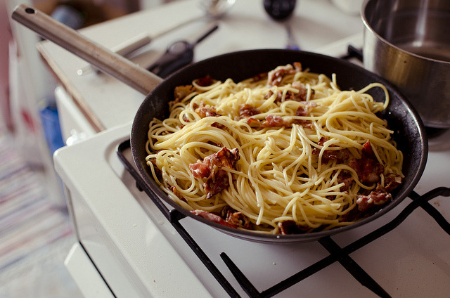 timefliestoday:  Carbonara by Unvelovert on Flickr.