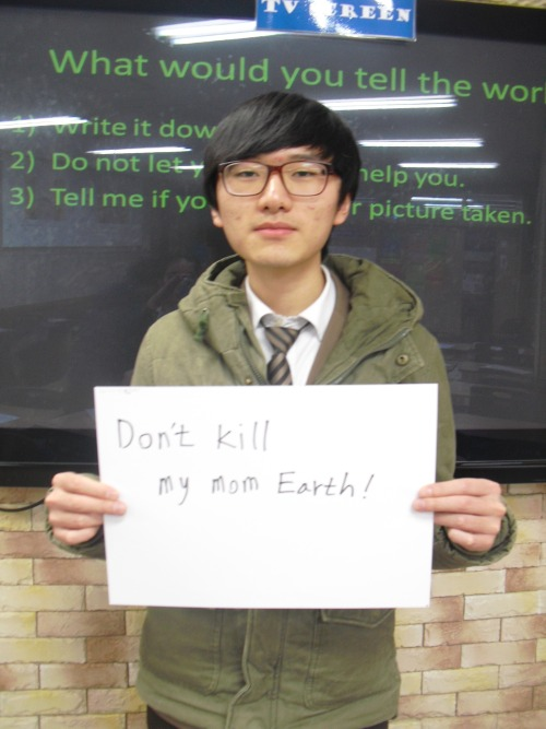 Don't kill my mom Earth!