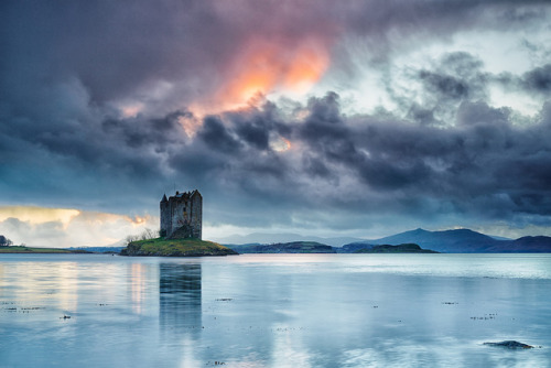 myprettyuniverse:  Castle Stalker At Dusk by mark_mullen on Flickr.