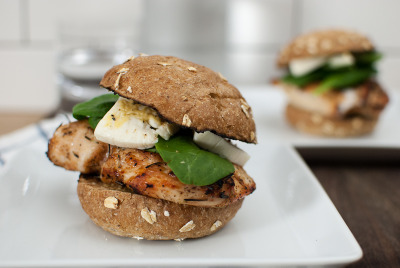 Grilled Chicken Sandwich with Brie with recipe (link)