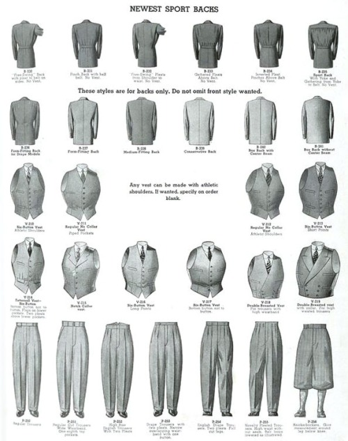 giorgiobrutini:  The cut of men's suits in the 1920's & 30's   fascinating