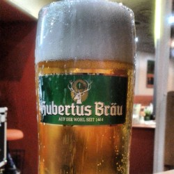Quenching my thirst. #beer #drinking #austria #vienna #europe #hubertus #pilsner #bubbles