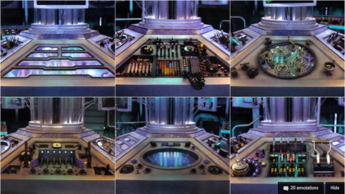 Get a close-up view of Doctor Who's brand new TARDIS control panels! - io9  Thanks to Doctor Who Magazine, we have a collection of amazing images from inside the 11th Doctor's new TARDIS. And we're asking all the Doctor Who fans out there to help us label the proper knobs and buttons….  See the images and help out io9here.