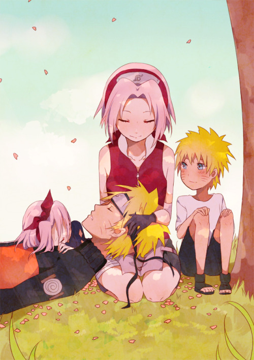 NaruSaku week: Day 1If your heart wears thin, I will hold you up.My contribution /// Precious otp, happy narusaku week!