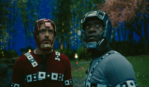 emmyc:  dansturm:  Without VFX, Iron Man 2 is the story of two men, with soft spots on their heads, getting into trouble in their pajamas.  I would watch that movie so much