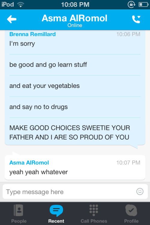 normal conversations with asma