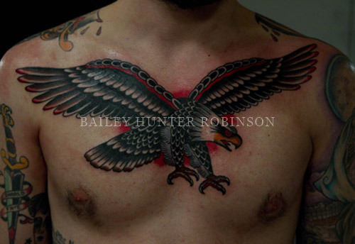 Tattooed this eagle in one shot a couple weeks ago thanks for looking BHR