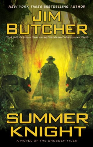 """Summer Knight"" by Jim Butcher is the fourth title in The Dresden Files series. The previous title made me want to continue on with the series, but I think this one endeared me to the series. These books are campy and quite silly at times, but I just really enjoy the story. I find something incredibly enjoyable about reading series, and I haven't really found one that I've loved in awhile. There are some good ones out there, but I haven't gone through a series with a healthy backlist in quiet some time.  I'd give this a B+.  Up next: ""Fight Club"" by Chuck Palahniuk"