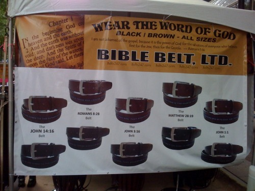 Come get your Bible Belt, right here…