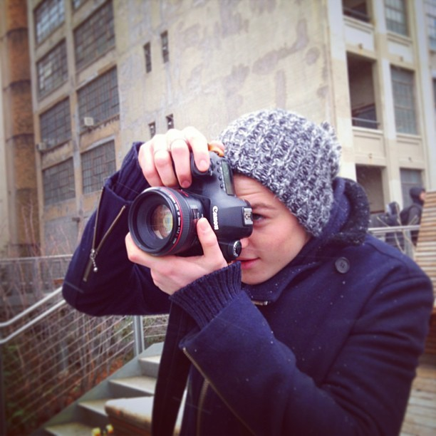 finnharries:  @jacksgap getting his photography on in New York!