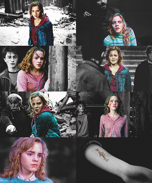 Hermione Granger + Bruised & Battered - requested by {the-trio-until-the-very-end}