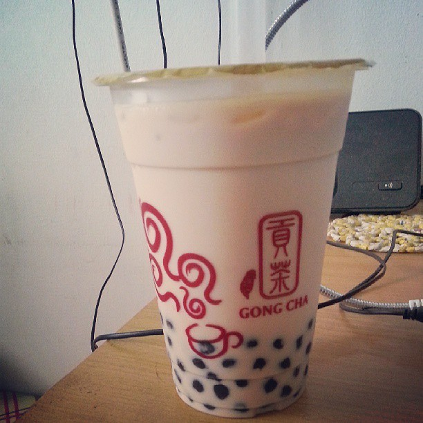 #Gongcha #pearl #milk #tea from le bro