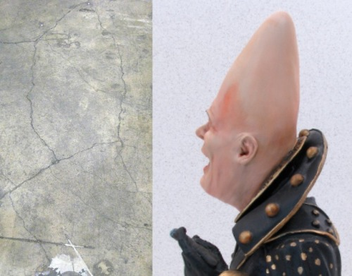 This crack in the floor at my work looks like Beldar Conehead.