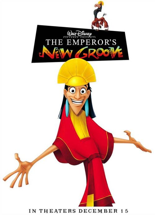 misssnippah:  2013 Movie Challenge 134. The Emperor's New Groove (2000, Mark Dindal) David Spade should do more animations. Were there sequels to this? This movie is fun.   Janessa!!  Kronk's New Groove! Additionally, I love this movie, but it is only on VHS in Canada and I want to watch it RIGHT NOW. Mean.