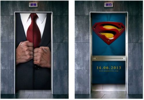 ohmygil:  spaceshiprocket:  Man Of Steel Elevator Ad