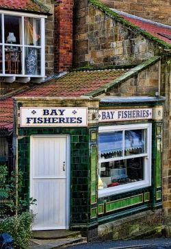 Robin Hood's Bay on the North Yorkshire Coast, Scarborough, UK (via Structures of Old)