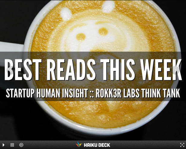 We've curated the best stories from the worlds of startup, design & human insight for the week of May 13th! Learn about 100 thinkers designing for social good, to typographic design patterns and practice, and everything in between! Flip through, and share your comments & story suggestions. We'd love to continue the conversation!